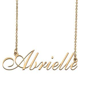 Custom Personalized Abrielle Name Necklace